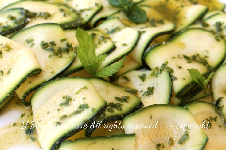 Carpaccio zucchine | Antipasti estivi