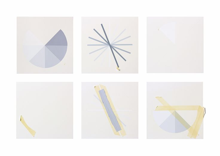 "Tammi Campbell, Work in Progress series, 2013 acrylique sur carton musée acrylic on museum board, 6 composantes_parts 30 x 30 cm (12"" x 12"") ch_ea"