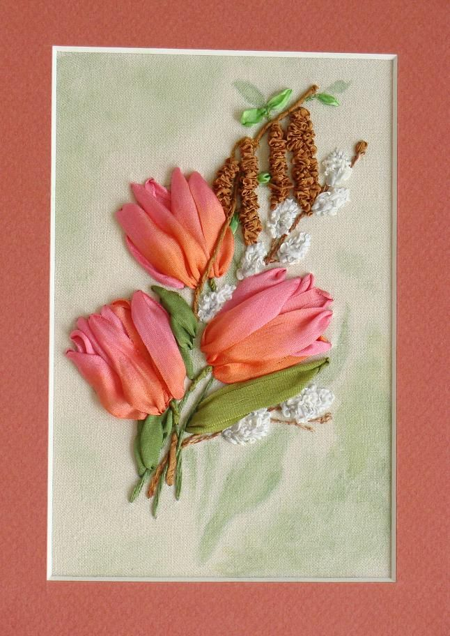 Best ribbon embroidery kits images on pinterest
