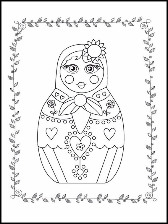 Matrioshka 2 Printable Coloring Pages For Kids Coloring Pages Coloring Books Coloring Pages For Kids