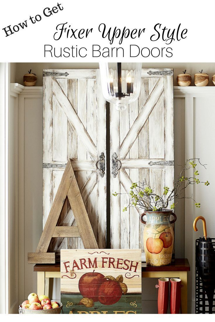 Perfect Barn Door Wall Art For That Open Space In My Family Room Love The Rustic Charm That This Will Add Exactl Barn Door White Barn Door Rustic Barn Door