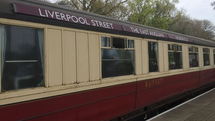 Gresley coach E9128E adorned with The East Anglian carriage boards