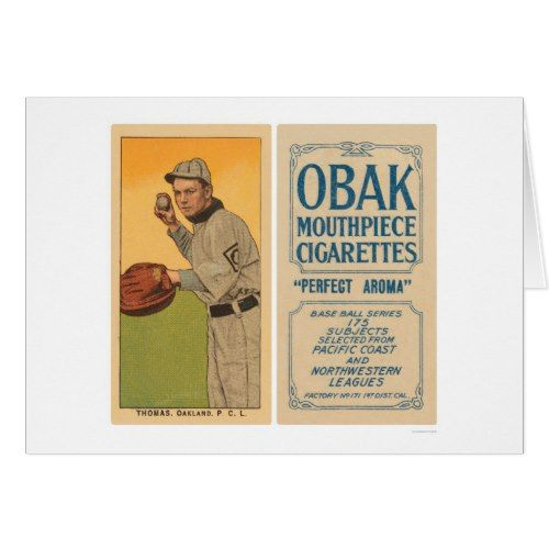 Thomas Oakland Baseball 1910 Card