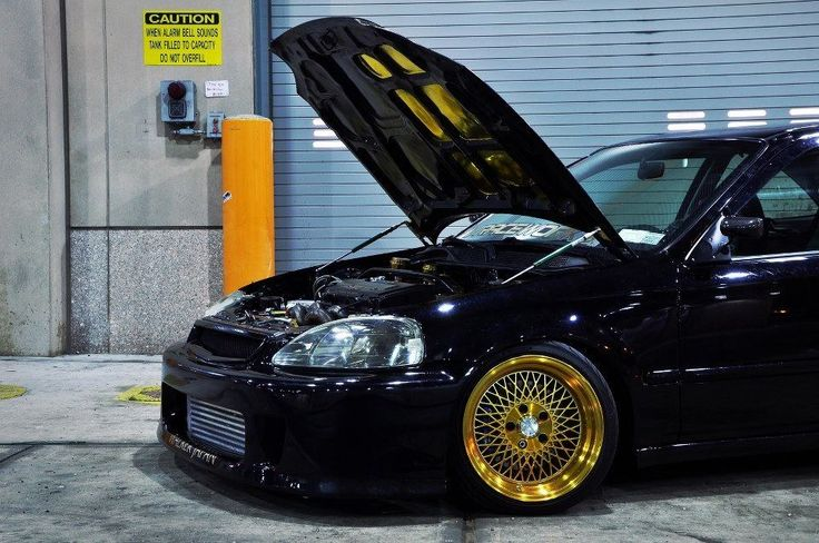 honda civic on sick golden rims nice rides. Black Bedroom Furniture Sets. Home Design Ideas