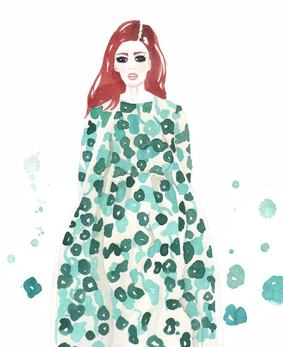 Fashion illustration by Giorgia Bressan (Max Mara)