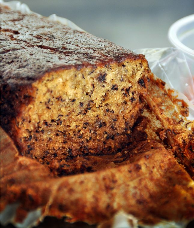 Julia's Best Banana Bread  This simple, moist banana bread can also be baked in three small (5 3/4x3 1/4-inch) loaf pans, which is how you'll find them at Julia's stand; cooking time will be 40-50 minutes. For the deepest flavor, use ripe bananas with lots of freckles.