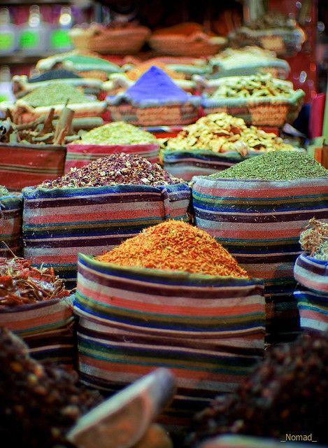 spice market in Casablanca Morocco