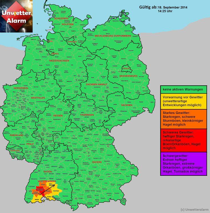 +++Kräftige #Gewitter in Baden- Württemberg nördlich von Blumberg+++