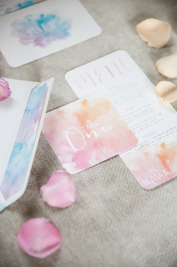 Stationery by Cocoa Berry - Watercolour Inspiration by Twig & Arrow and Anna Munro - via Magnolia Rouge