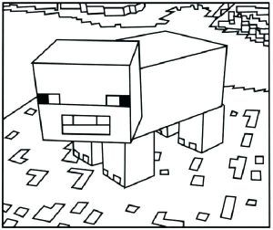 Fun Minecraft Coloring Pages Ideas For Kids Minecraft Coloring Pages Minecraft Pig Coloring Pages For Kids