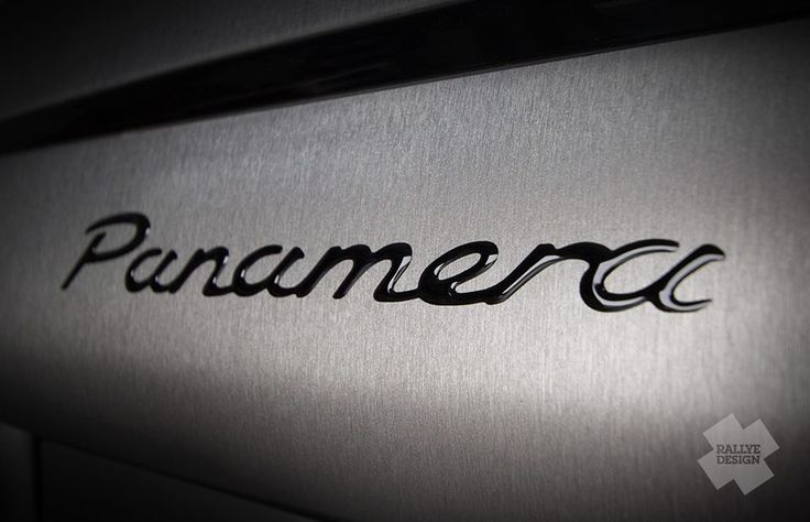 Porsche Panamera titanium wrap - from black to brushed titanium wrap - 2014.
