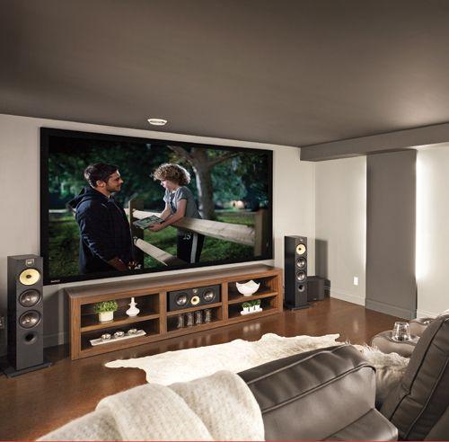 La grande classe pour le cinéma maison - Sous-sol - Inspirations - Décoration et rénovation - Pratico Pratique