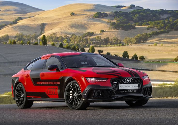updated unpiloted AUDI RS 7 keeps get better, out laps race car drivers at sonoma