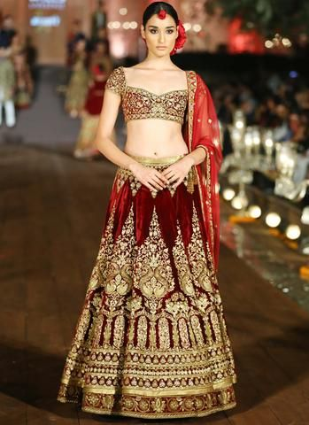 Maroon Color Wedding Lehenga In Velvet