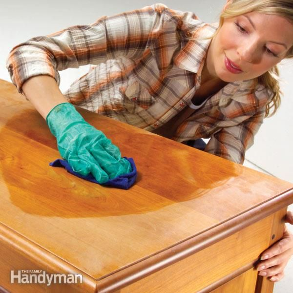 The Top 10 Woodworking Ideas & Skills: Wood Finishing Tips: How to Renew a Finish: http://www.familyhandyman.com/woodworking/the-top-10-woodworking-ideas-and-skills#3