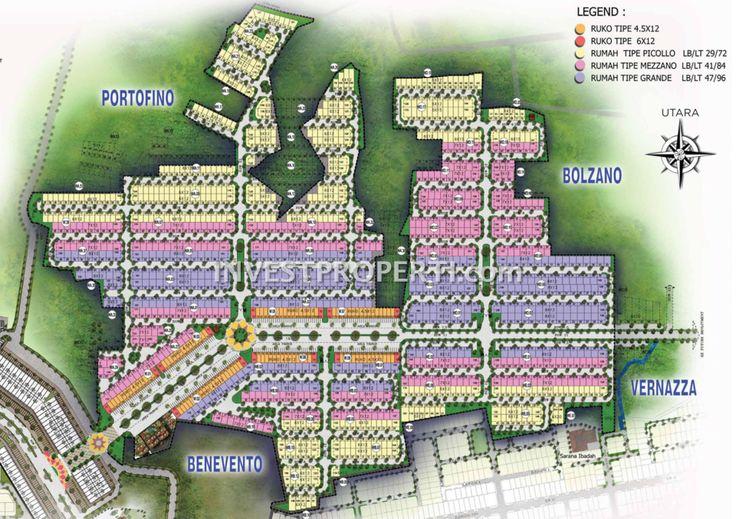 Siteplan cluster Villaggio CitraRaya Tangerang.