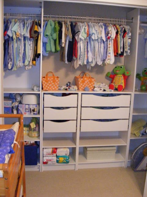 Just before the baby was born last September I was in a panic to get a closet system in his room. (You can read all about that, here.) After that, the baby's closet was the nicest closet in the whole house and sometimes I would go in there, stand in the one room in the …