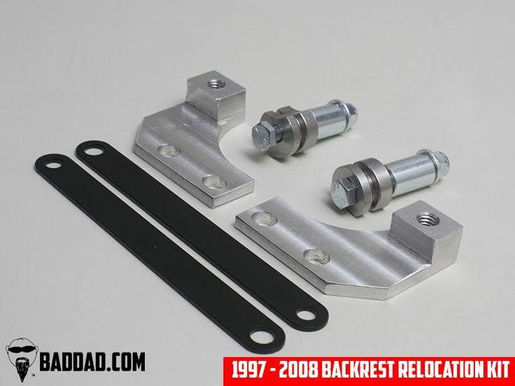 Backrest Relocation Bracket | Bad Dad | Custom Bagger Parts for Your Bagger