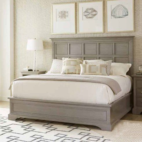 Transitional Panel Bed
