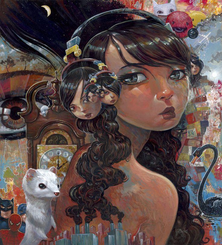 Eyes Like Infinity: Aaron Jasinski S, Illustrations, Jasinski Aaron, Beauty, Painting, Artist Aaron Jasinski, Infinity, Artist Jasinski, Eyes