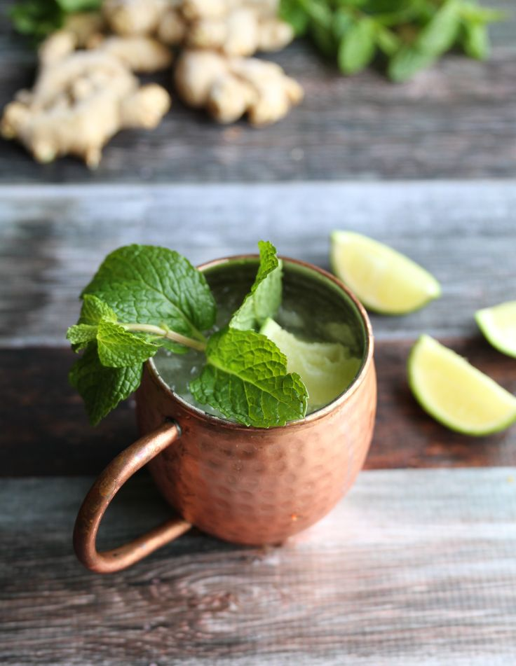 Fresh Ginger Moscow Mule and Ginger Syrup Recipe- zenbelly