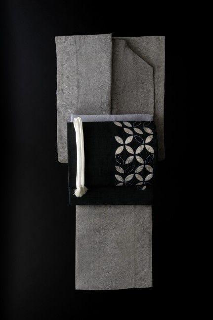 江戸小紋の着物と塩瀬刺繍袋帯