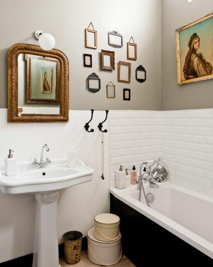 Les 25 meilleures id es concernant lavabos de salle de for Petit miroir blanc