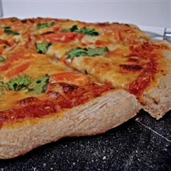 Easy to make, healthy pizza crust recipe - add this to your collection and try it! PIN
