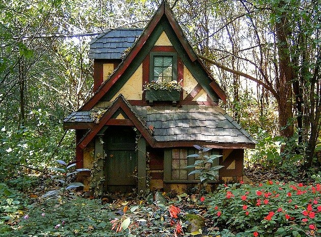 Tiny Storybook House In The Woods