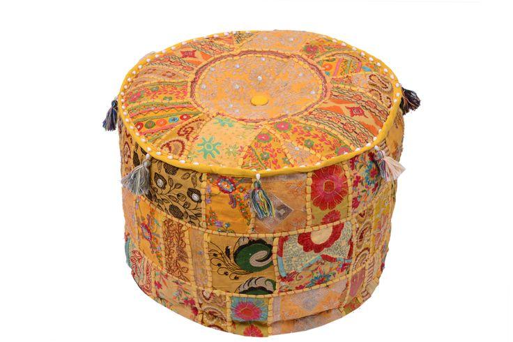 Textil hogar textil tnico poufs pouf de suelo asiento for Hogar textil decoracion