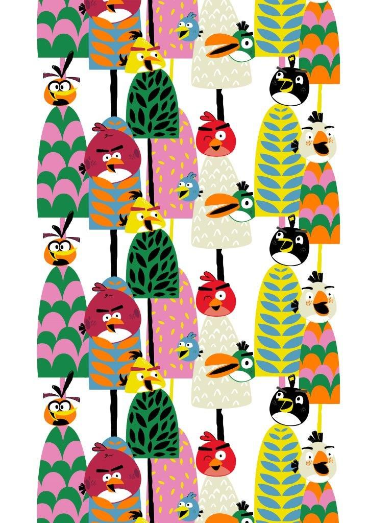 """Forest"" fabric,150 cm - Angry Birds Interior Collection by Vallila"