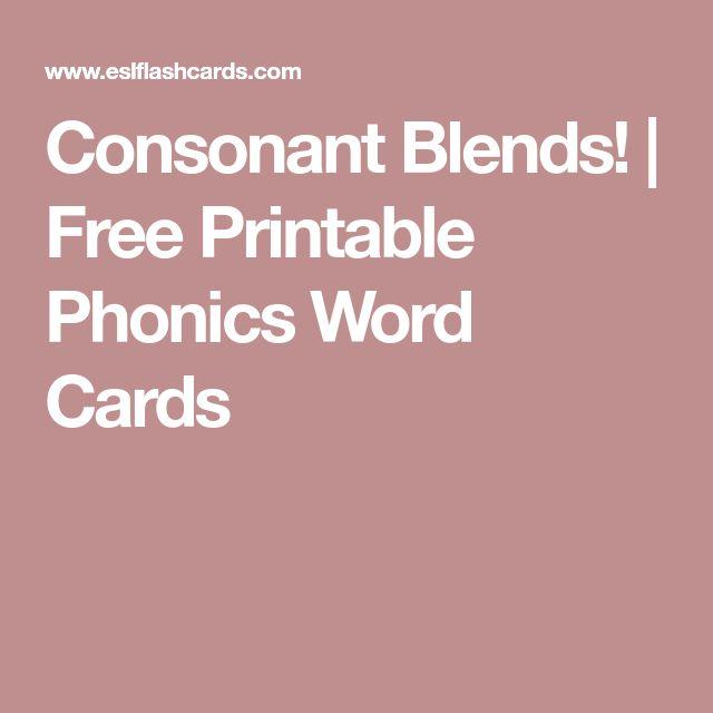 Consonant Blends! | Free Printable Phonics Word Cards