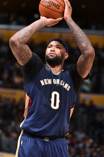 LOS ANGELES, CA - MARCH 5: DeMarcus Cousins #0 of the New Orleans Pelicans shoots a free throw during the game against the Los Angeles Lakers on March 5, 2017 at STAPLES Center in Los Angeles, California. (Photo by Andrew D. Bernstein/NBAE via Getty Images)