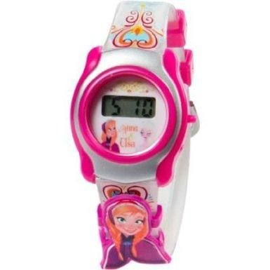 This Disney Frozen watch for girls has an adjustable strap and a removable Princess Anna charm.  Little girls can tell time with a digital watch.