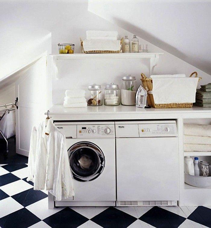 Checkerboard Laundry Room Remodelista