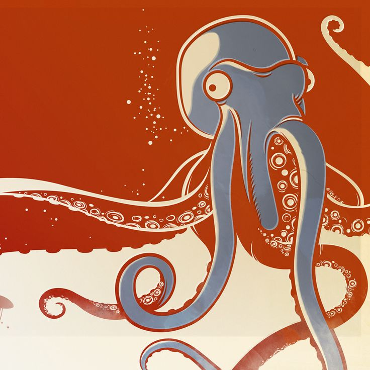 octopus graphic illustration