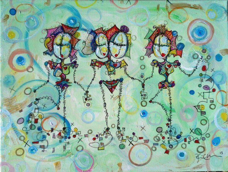Friendships 18 x 24 canvas by Kim Dean 2013