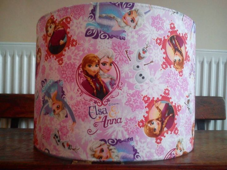 Disney Frozen fabric covered lampshade