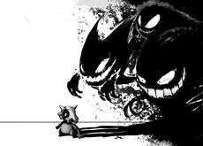 pokemon black halloween gengar haunter ghastly artwork cubone 1920x1200 wallpaper Wallpaper HD