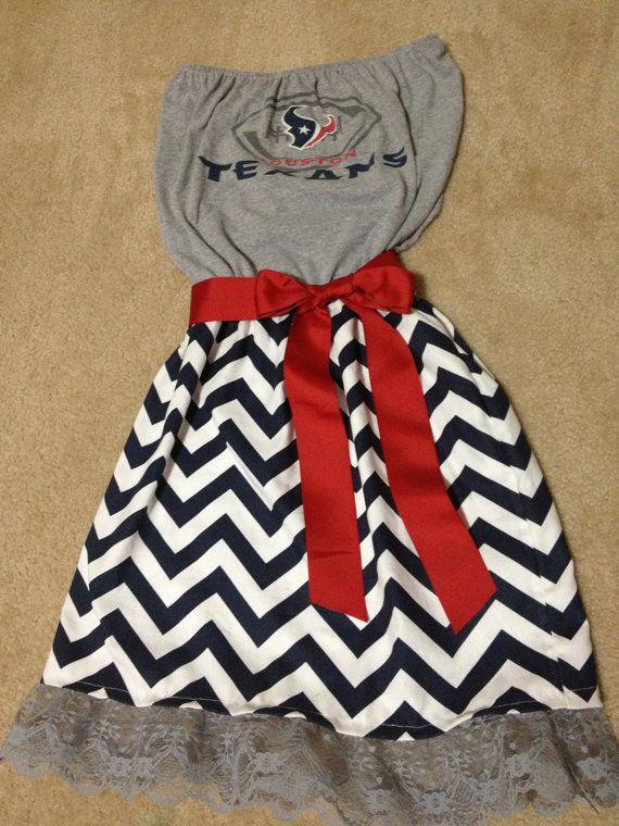 Chevron Game day dress Houston Texans