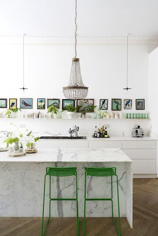 marble + green kitchen / @sfgirlbybay