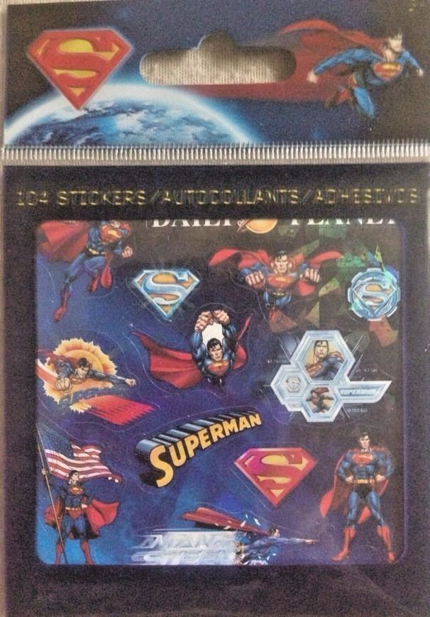 SandyLion Bity Bits 104 Superman Stickers ST4765  #SandyLion