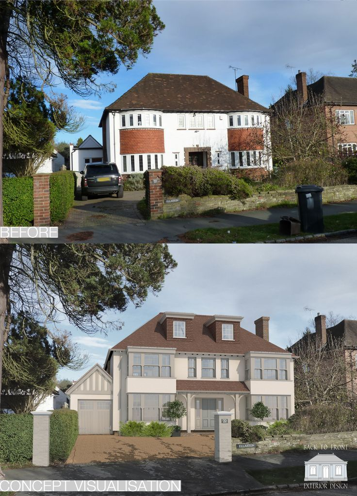 Remodelling scheme, updating the exterior as well as the interior by Back to Front Exterior Design