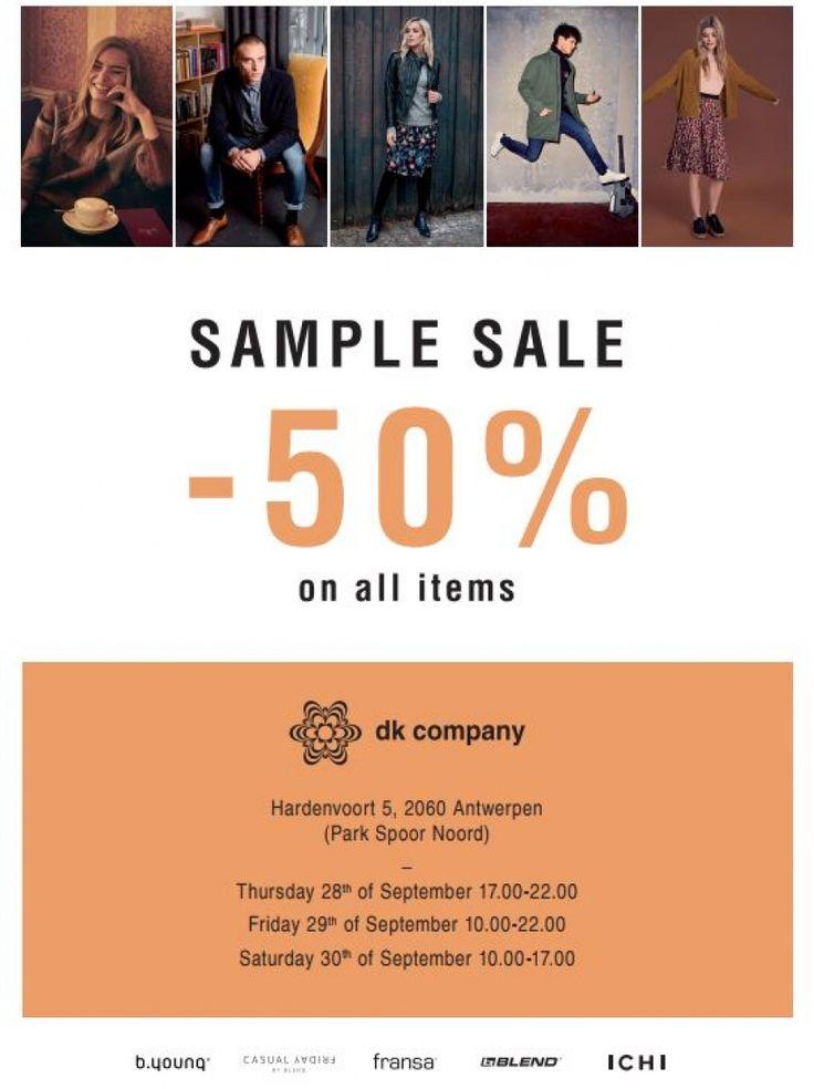 DK Company Sample Sale -- Antwerpen -- 28/09-30/09