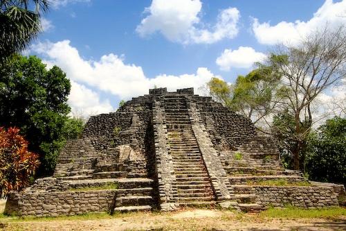 Chacchoben Mayan Ruins in Costa Maya, Mexico.