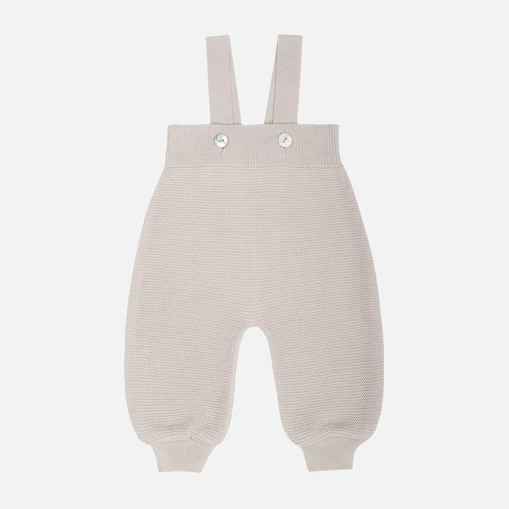 Organic Cotton Baby Dungarees - Dune - 0m-12m – MamaOwl
