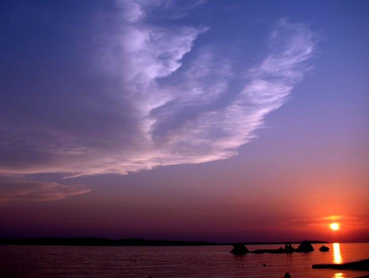 Giant Eagle and Sun (fantastic clouds)