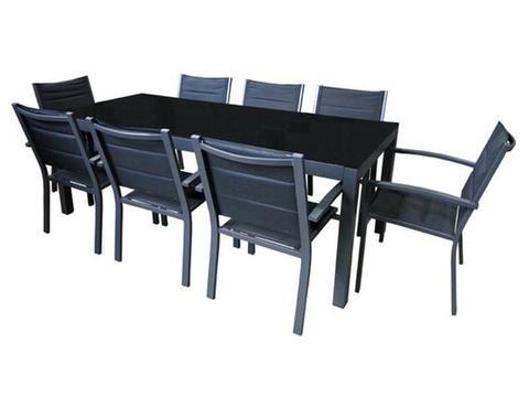 Outdoor Furniture - Hayman 9pc Dining