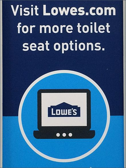 Lowes  More Toilet Seat Options Cross Sell Sing. 14 best Toilet Plunger Merchandising in Retail images on Pinterest