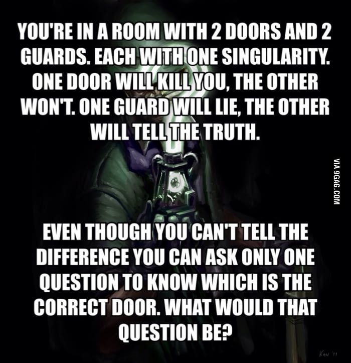 One of the hardest riddles ever.